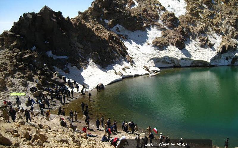 دریاچه قله سبلان اردبیل